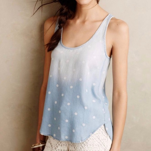 Anthropologie Tops - Cloth and Stone Ombré Denim Tank